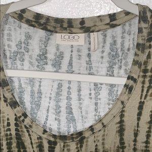 LOGO by Lori Goldstein Tops - LOGO Lori Goldstein Large tunic tie dye green U